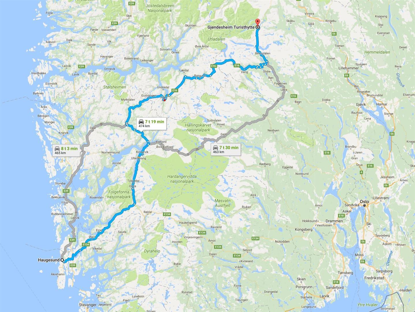 besseggen kart Misje – Besseggen (Jotunheimen) besseggen kart