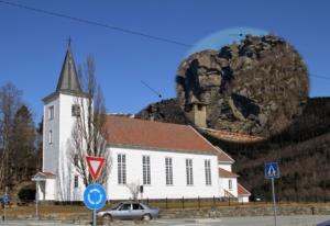 Himakånå fra Nedstrand kirke (klikk for større versjon)